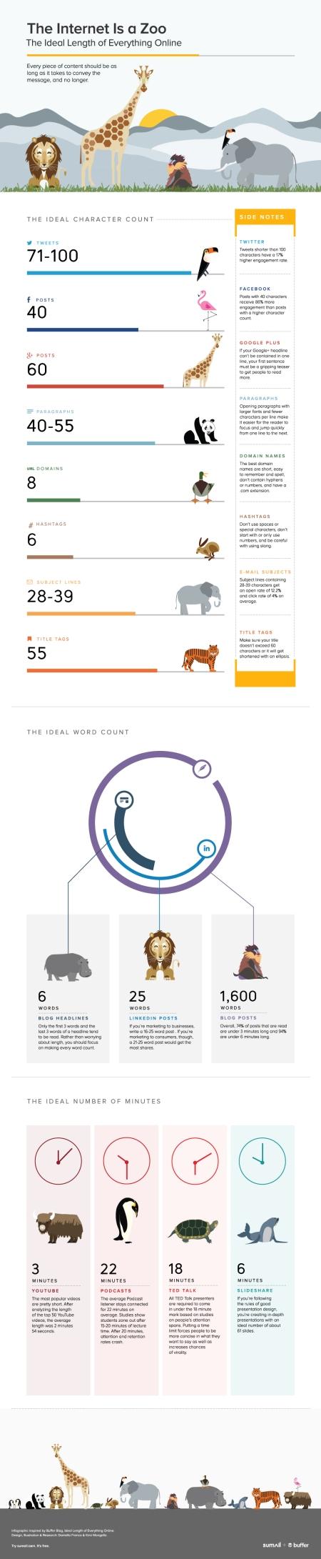 Social Media Length Infographic